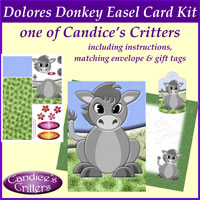 dolores donkey easel card kit, one of Candice's Critters