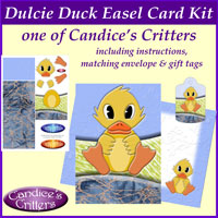 dulcie duck easel card kit, one of Candice's Critters