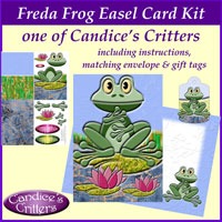 freda frog easel card kit, one of Candice's Critters