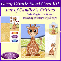 gerry giraffe easel card kit, one of Candice's Critters