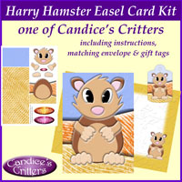 harry hamster easel card kit, one of Candice's Critters