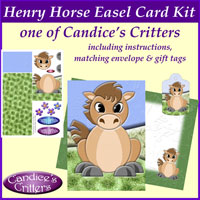henry horse easel card kit, one of Candice's Critters