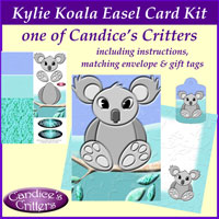 kylie koala easel card kit, one of Candice's Critters