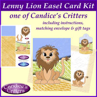 lenny lion easel card kit, one of Candice's Critters