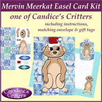 mervin christmas meerkat easel card kit, one of Candice's Critters