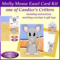 molly mouse easel card kit, one of Candice's Critters