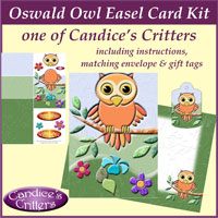 oswald owl easel card kit, one of Candice's Critters