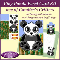 ping panda easel card kit, one of Candice's Critters