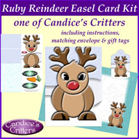 ruby reindeer easel card kit, one of Candice's Critters