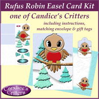 rufus robin easel card kit, one of Candice's Critters