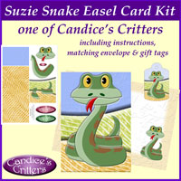 suzie snake easel card kit, one of Candice's Critters