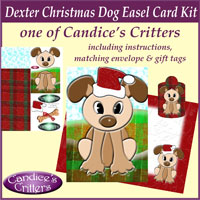 dexter christmas dog easel card kit, one of Candice's Critters