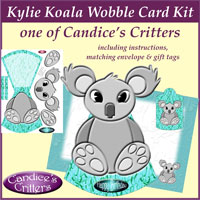 kylie koala wobble card kit, one of Candice's Critters