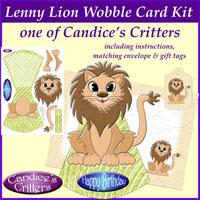 lenny lion wobble card kit, one of Candice's Critters