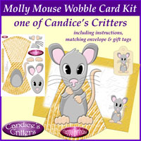 molly mouse wobble card kit, one of Candice's Critters