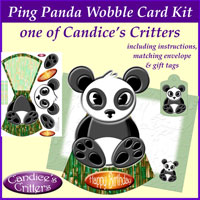ping panda wobble card kit, one of Candice's Critters