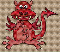 Alwyn Dragon cross stitch design, Candice's Critters
