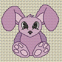 Belle Bunny cross stitch design, Candice's Critters