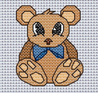 Bernard Bear cross stitch design, Candice's Critters