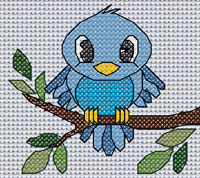 Bertram Bird cross stitch design, Candice's Critters