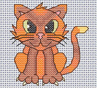 Camille Cat cross stitch design, Candice's Critters