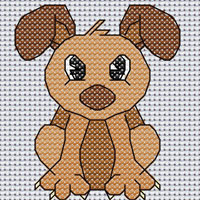 Dexter Dog cross stitch design, Candice's Critters
