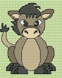 Dolores Donkey cross stitch design, Candice's Critters