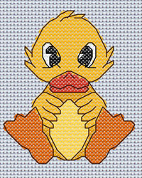 Dulcie Duck cross stitch design, Candice's Critters
