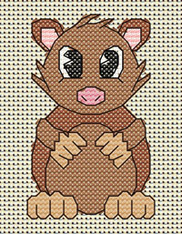Harry Hamster cross stitch design, Candice's Critters