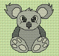 Kylie Koala cross stitch design, Candice's Critters