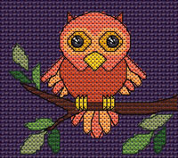 Qswald Owl cross stitch design, Candice's Critters