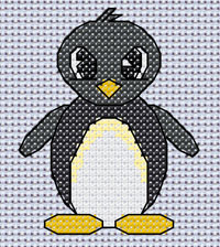 Pelham Penguin cross stitch design, Candice's Critters