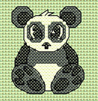 Ping Panda cross stitch design, Candice's Critters