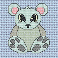 Preston Polar Bear cross stitch design, Candice's Critters