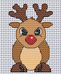 Ruby Reindeer cross stitch design, Candice's Critters