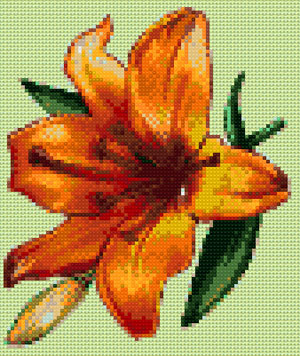 Lily cross stitch design, Candice Crafts Cross Stitch Shop