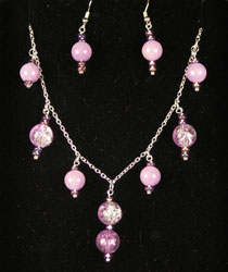 2 piece large set in amethyst