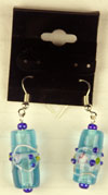 earrings in aqua