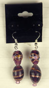 earrings in purple
