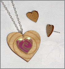 Balsa heart set