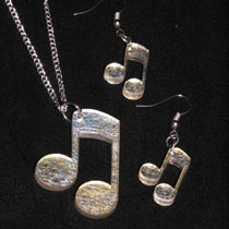 Gold thread musical note set