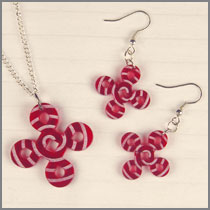 Red Acrylic Celtic Knot Set
