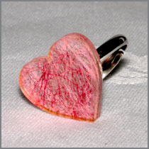 Pink thread heart ring
